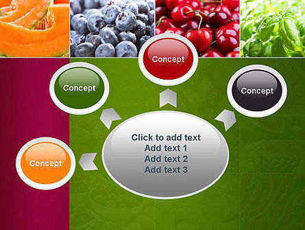 Collage with Different Fruits PowerPoint Template Slide 7