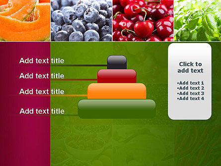 Collage with Different Fruits PowerPoint Template Slide 8