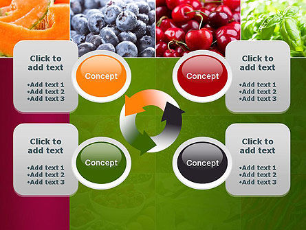 Collage with Different Fruits PowerPoint Template Slide 9