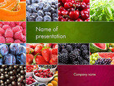 Agriculture: Modelo do PowerPoint - colagem diferente frutas #14012