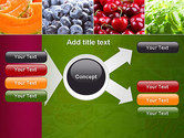 Collage with Different Fruits PowerPoint Template#14