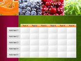 Collage with Different Fruits PowerPoint Template#15