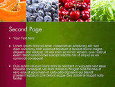 Collage with Different Fruits PowerPoint Template#2