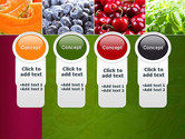 Collage with Different Fruits PowerPoint Template#5