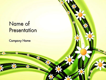 Chamomile Stream PowerPoint Template, 14013, Abstract/Textures — PoweredTemplate.com