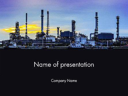 Utilities/Industrial: Industry Landschap PowerPoint Template #14014