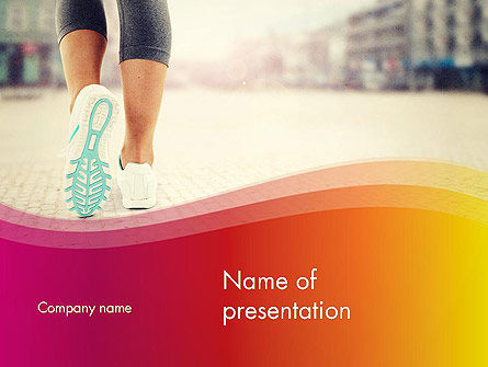 Legs Of Jogging Woman PowerPoint Template, 14015, Sports — PoweredTemplate.com