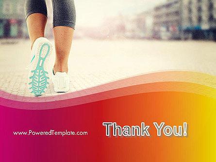 Legs Of Jogging Woman PowerPoint Template Slide 20