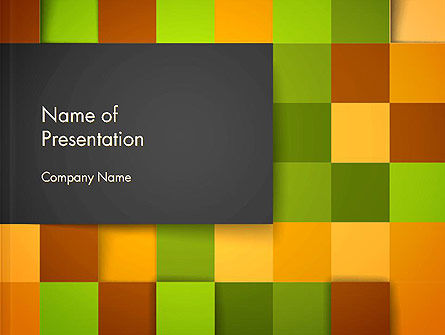 Colored Checkered Pattern PowerPoint Template