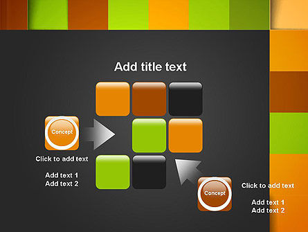 Colored Checkered Pattern PowerPoint Template Slide 16