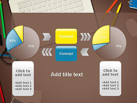 Office Workspace Top View PowerPoint Template Slide 16