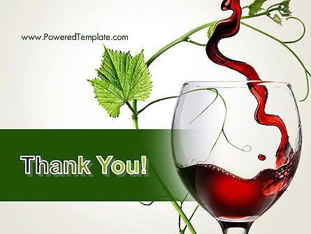 Red Wine Glass PowerPoint Template Slide 20