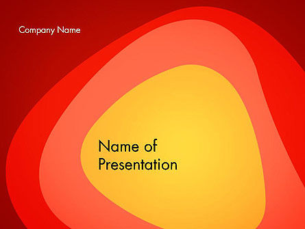 Temperature Map Abstract PowerPoint Template