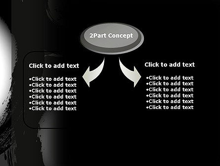 Black Circle Outline Traces Abstract PowerPoint Template Slide 4