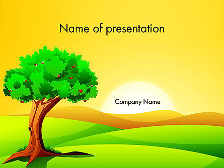 Nature & Environment: Landscape Summer PowerPoint Template #14024