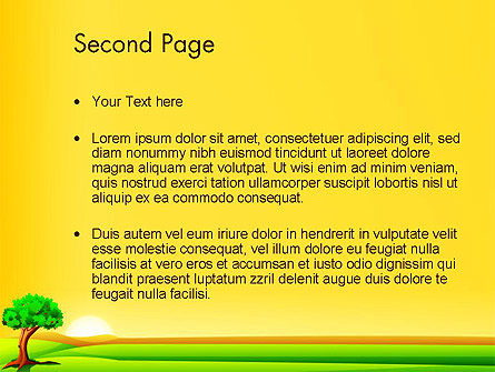 Landscape Summer PowerPoint Template, Slide 2, 14024, Nature & Environment — PoweredTemplate.com