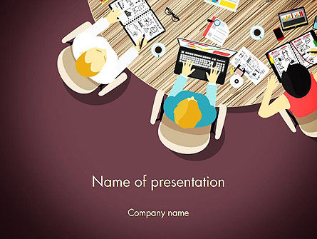 Working on Presentation PowerPoint Template, 14025, Business — PoweredTemplate.com