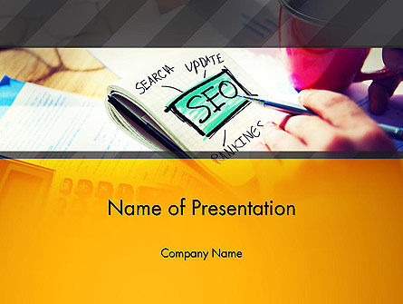 SEO Agency PowerPoint Template, 14026, Consulting — PoweredTemplate.com