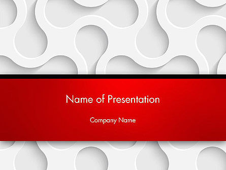 White Paper Pattern Abstract PowerPoint template