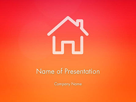 General: House Icon PowerPoint Template #14028