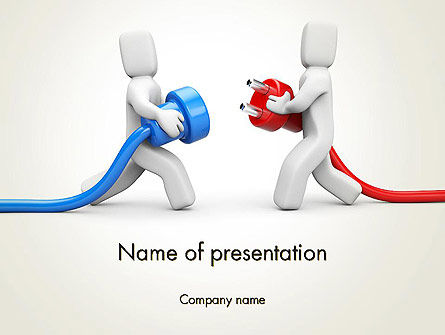 Business Concepts: Connection Establishment PowerPoint Template #14029