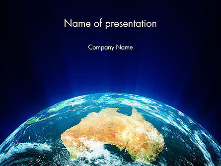 Australia on Earth PowerPoint Template
