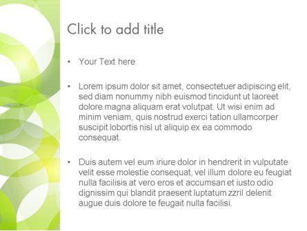 Light Green Circles PowerPoint Template, Slide 3, 14031, Abstract/Textures — PoweredTemplate.com