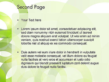 Light Green Circles PowerPoint Template Slide 2