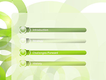Light Green Circles PowerPoint Template Slide 3