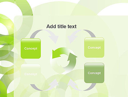 Light Green Circles PowerPoint Template Slide 6