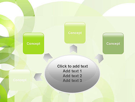Light Green Circles PowerPoint Template Slide 7