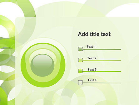 Light Green Circles PowerPoint Template Slide 9