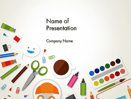 Primary School Supplies PowerPoint Template