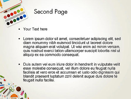 Primary School Supplies PowerPoint Template Slide 2