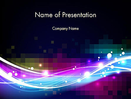 Waves and Gradient Abstract PowerPoint Template, 14033, Abstract/Textures — PoweredTemplate.com