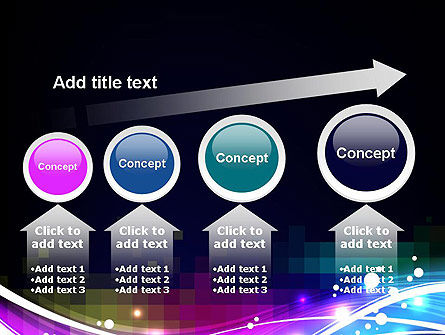 Waves and Gradient Abstract PowerPoint Template Slide 13