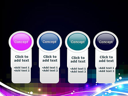 Waves and Gradient Abstract PowerPoint Template Slide 5