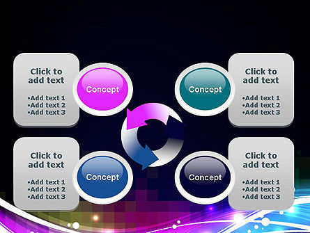 Waves and Gradient Abstract PowerPoint Template Slide 9