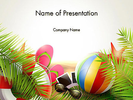 happy summer holiday powerpoint template, backgrounds | 14034, Modern powerpoint
