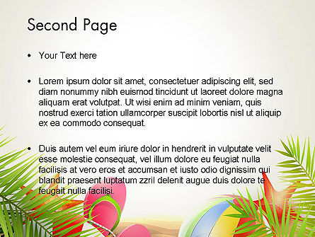 Happy Summer Holiday PowerPoint Template, Slide 2, 14034, Careers/Industry — PoweredTemplate.com
