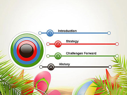 Happy Summer Holiday PowerPoint Template, Slide 3, 14034, Careers/Industry — PoweredTemplate.com