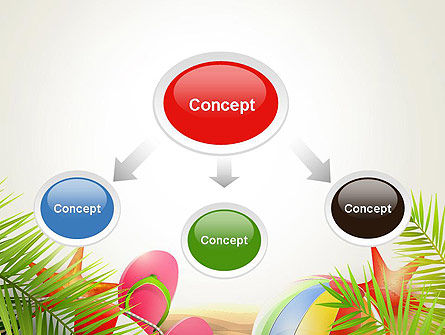 Happy Summer Holiday PowerPoint Template, Slide 4, 14034, Careers/Industry — PoweredTemplate.com