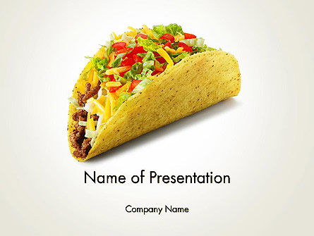 Food & Beverage: Meal on the Go PowerPoint Template #14035