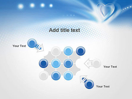 Blue Heart Background PowerPoint Template Slide 10