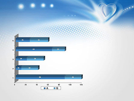Blue Heart Background PowerPoint Template Slide 11