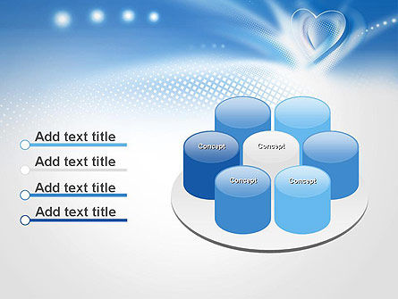 Blue Heart Background PowerPoint Template Slide 12
