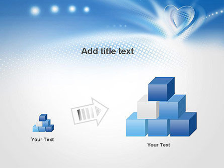 Blue Heart Background PowerPoint Template Slide 13