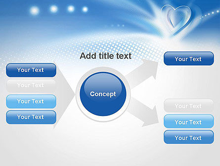 Blue Heart Background PowerPoint Template Slide 15