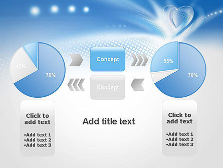 Blue Heart Background PowerPoint Template Slide 16
