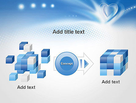 Blue Heart Background PowerPoint Template Slide 17